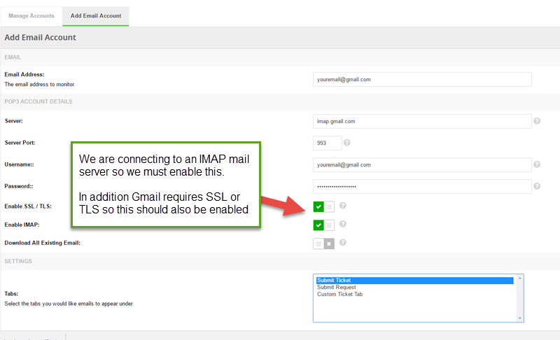 Monitoring Gmail accounts within InstantKB